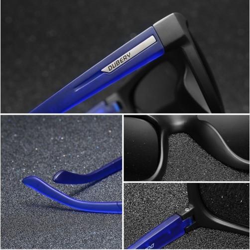 DUBERY Brand Design Polarized HD Sunglasses Men Driving Shades Male Retro Sun Glasses For Men Summer Mirror Square Oculos UV400