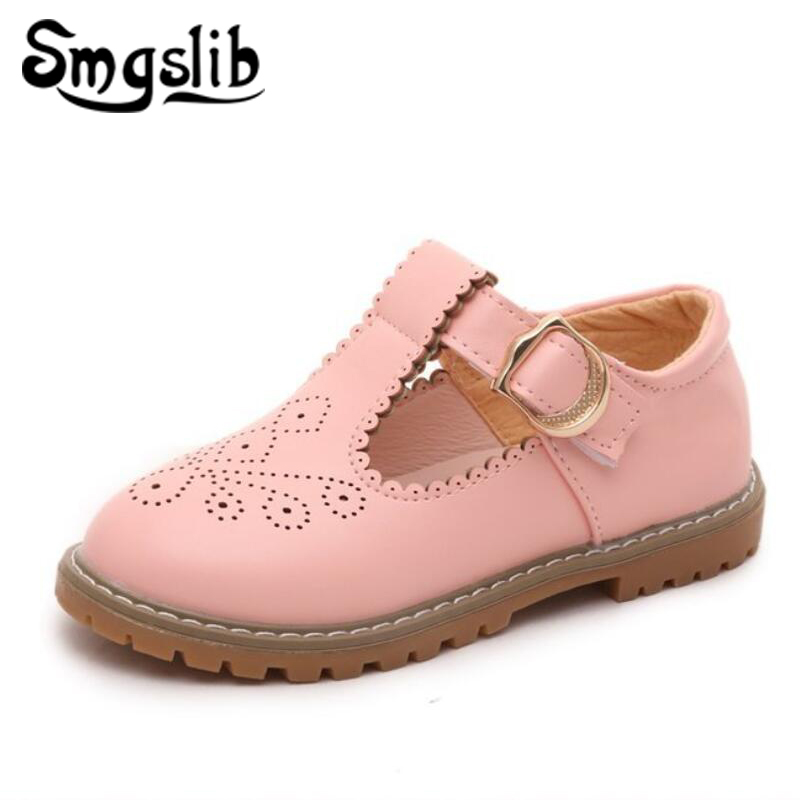 Girls Shoes Girls Dress Shoes Kids 2018 Spring Autumn Toddler Pu Leather Princess Party Dance Flower Wedding Girls School Shoes