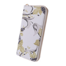 Women Zipper Wallet Printing Clutch Bag Lady Elegant Female Purse Phone Girl Long Wallets