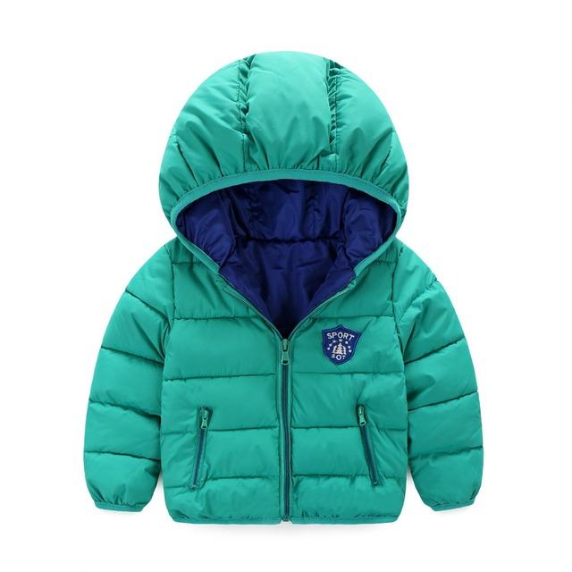 Hooded Infant Overcoat Cotton Jacket Coat Boys Winter Unisex Outerwear & Coats Down Jacket For Girl Baby Boy Padded Jackets