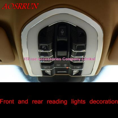цена на Front and rear reading lights automotive interior decorative box special modified for PORSCHE cayenne Panamera S 3D sticker car