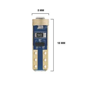 Image 5 - 10PCS T5 58 74 286 W1.2W 3030 LED Wedge Dashboard Gauge Lamps Car Newest Warning Indicator Instrument Cluster Lights Bulb