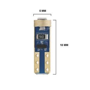 Image 5 - Luces LED de señalización para salpicadero de coche, 10 Uds., T5 58 74 286 W1.2W 3030
