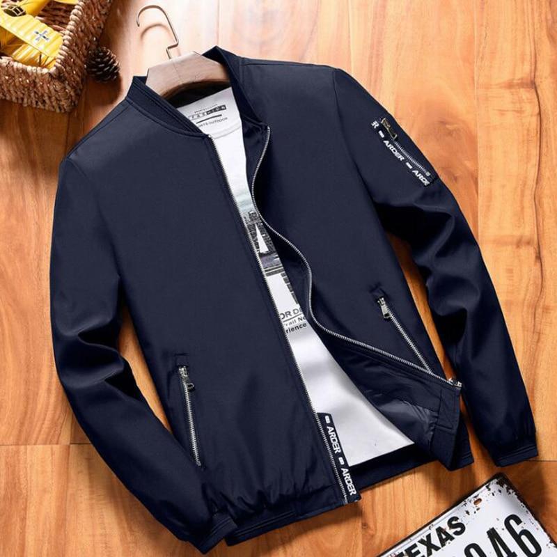 2019 Spring New Men 39 s Bomber Zipper Jacket Male Casual Streetwear Hip Hop Slim Fit Pilot Coat Men Clothing Plus Size 4XL in Jackets from Men 39 s Clothing