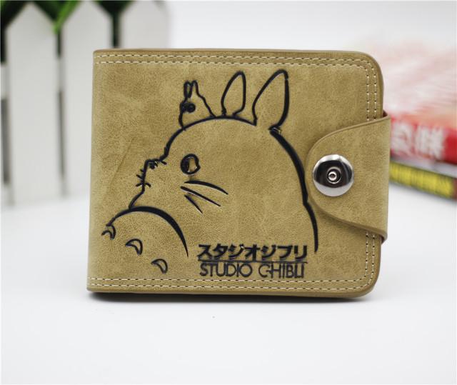 My Neighbour Totoro Unisex Stylish Leather Short Wallet Purse