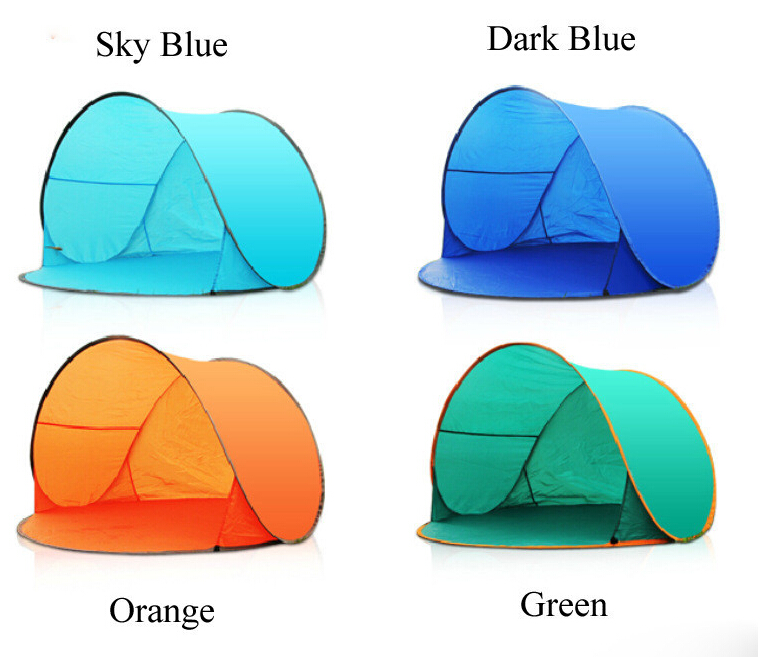 Outdoor C&ing Beach Pop Up Tent UV Protection Fully Automatic Instant Quick Open Awning Fishing Sunshade Portable Shelter-in Tents from Sports ...  sc 1 st  AliExpress.com & Outdoor Camping Beach Pop Up Tent UV Protection Fully Automatic ...
