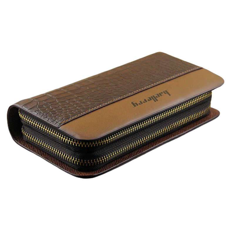 032008952fcd NEW Business Wallet Men Fashion Clutch Bag Coin Pocket Luxury Brand  Portfolio Double Zipper Male Purse