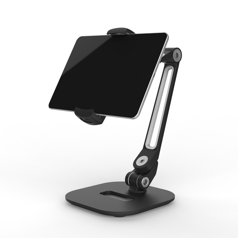 360 Rotating Tablet Holder Stand for iPad 9.7 Air 2 1 Mini Desktop Lazy People Phone Mount Bracket for iPhone X 8 Xiaomi Mipad 4 vmonv tablet phone stand for ipad air mini 1 2 3 4 samsung strong suction tablet car holder stand for 4 10 5 inch iphone x phone