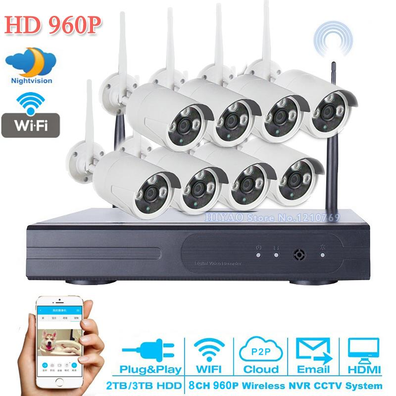 ФОТО 8CH 960P HDMI DVR 8PCS IR Indoor/Outdoor Weatherproof Wifi CCTV Camera Home Security System Surveillance CCTV system 3TB HDD