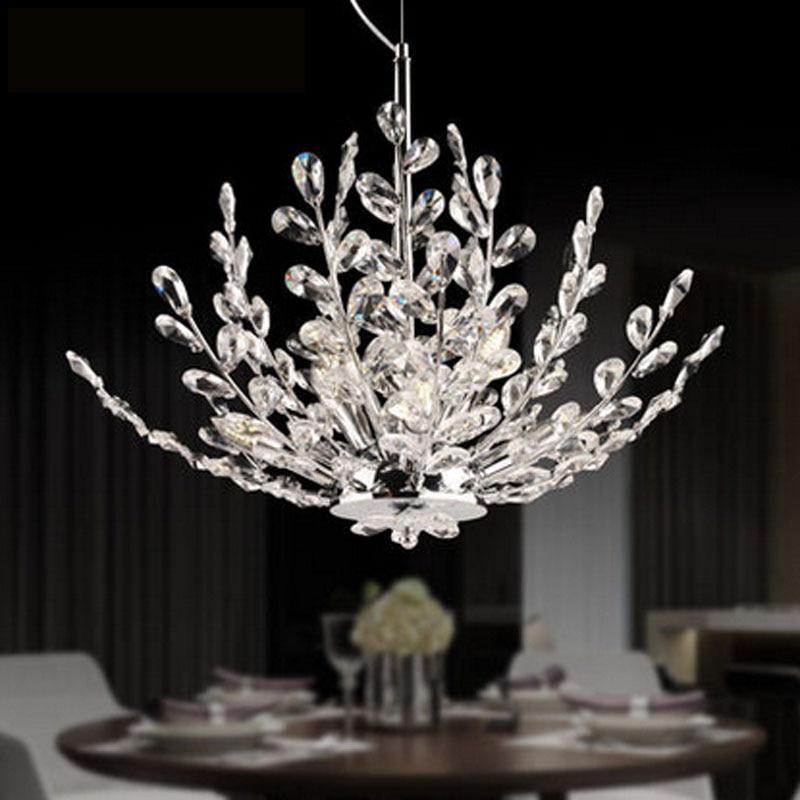 Zyy Modern Led Crystal Chandelier Branch Design Bedroom Lighting Fixture Creative Foyer Restaurant Lamps E14 Base In Pendant Lights From