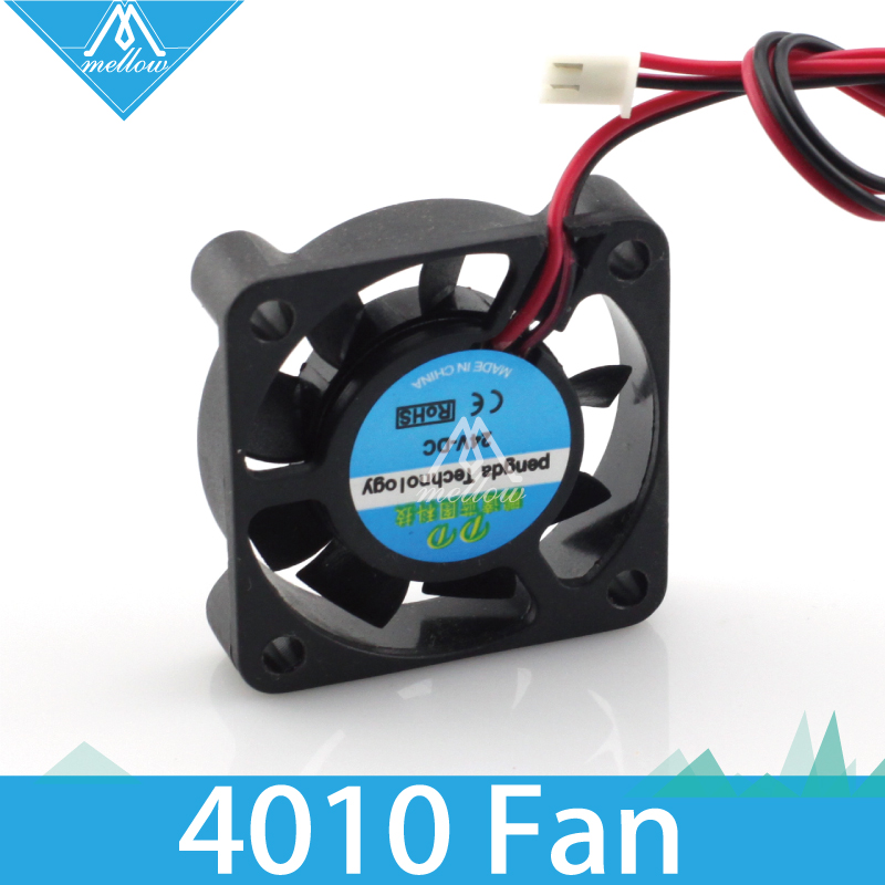 1pcs 3d printer small cooling fan cooling extruder special small fan 2 wire 4010 12V 24V two kinds delta efb0405hha 5v 0 25a 4cm 4010 2 wire dual ball bearing cooling fan