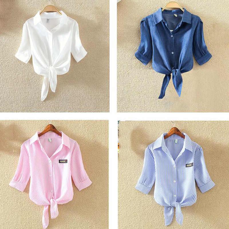 100% Хлопковая женская блузка рубашка белые летние блузки рубашки праздничные Свободные повседневные топы с короткими рукавами и рубашка с вышивкой Новинка