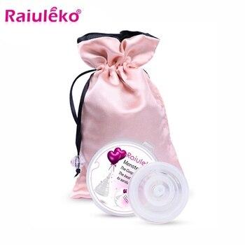 66d8c031495a Taza Menstrual reutilizable de silicona suave médica para mujer, válvula de  descarga para mujer, vasos menstruales, pérdida de seguridad, mes ...