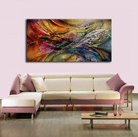 Hot Sale Abstract Hand Painted Red Blue White Green Rose Flower Oil Painting Home Decoration Modern