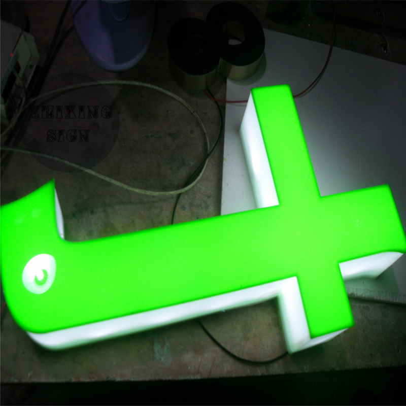 Custom Outdoor Advertising Acrylic LED Letter Signage