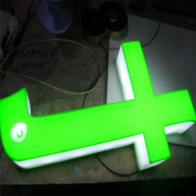Custom Outdoor Advertising Acrylic LED Letter Signage