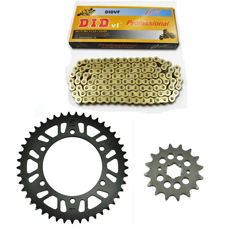 One packet motorcycle 520 chain front & rear sprocket kit set for yamaha road dt250 mx,dt250mx-d,e,f,