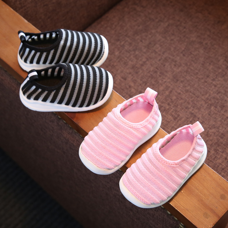 Koovan Babys Shoes 2017 Spring New Baby Function School Shoes 0-1-2 Years Childrens Shoes Boys And Girls Casual Stripes
