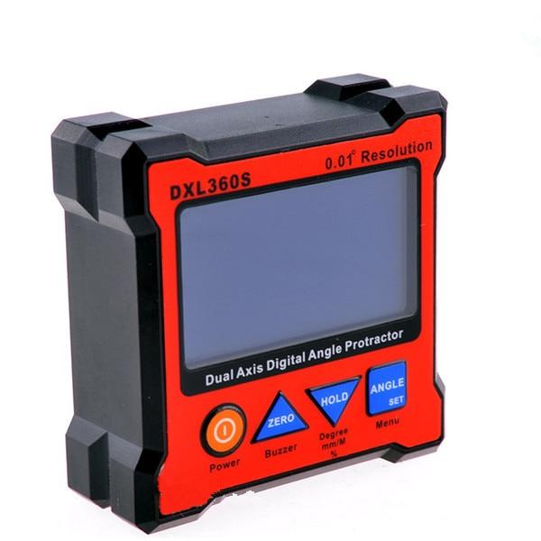 DXL360S 2.3 LCD Digital Protractor Inclinometer Level BoxDXL360S 2.3 LCD Digital Protractor Inclinometer Level Box
