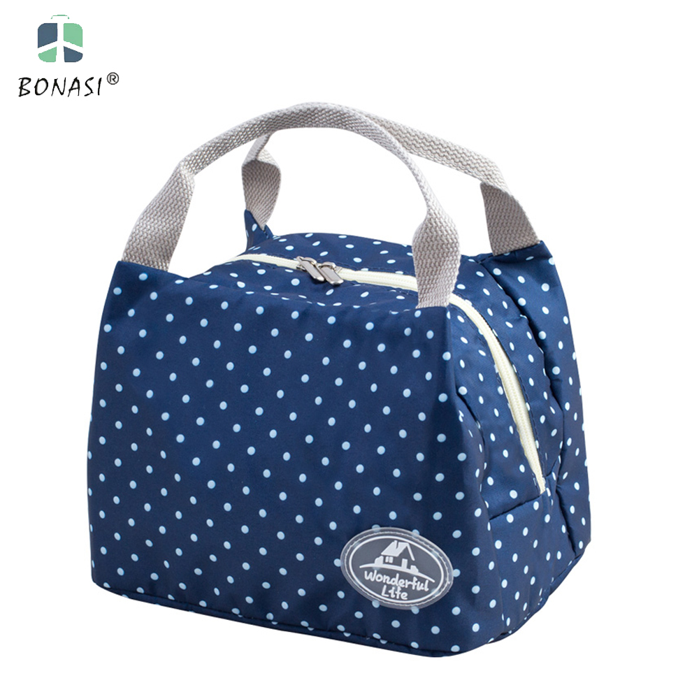 2017 new fashion portable insulated lunch bag thermal food picnic lunch bags for women kids men. Black Bedroom Furniture Sets. Home Design Ideas