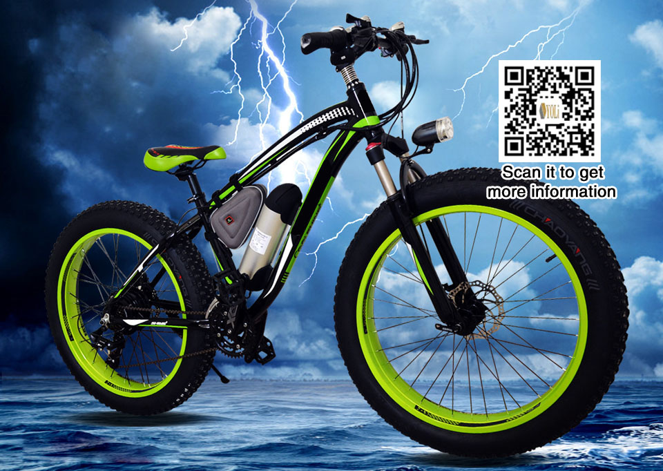 48 v 1000 w Vélo Électrique Avec 17Ah Batterie Au Lithium 21 Vitesse fat tire montagne vélo expédition lente 60 jours