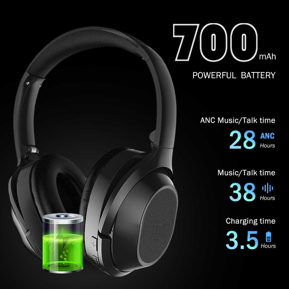 Langsdom aktywne redukcji szumów słuchawki Bluetooth słuchawki z mikrofonem bezprzewodowe słuchawki douszne z ANC na telefon komórkowy/PC