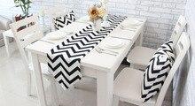 Chevron lienzo de algodón cinta rústica decoración del hogar camino de mesa 4 tamaño para elegir