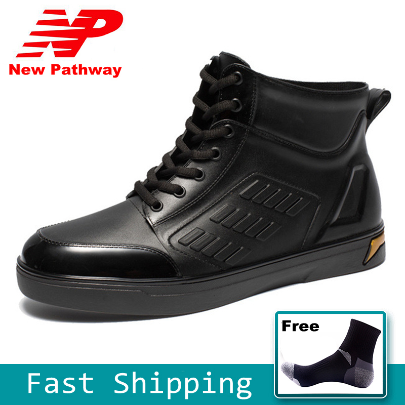 100% Waterproof Mens Rainboots PVC Material and Soft Soles Fashion Outdoor Work Shoes Size 39-44 RB01100% Waterproof Mens Rainboots PVC Material and Soft Soles Fashion Outdoor Work Shoes Size 39-44 RB01