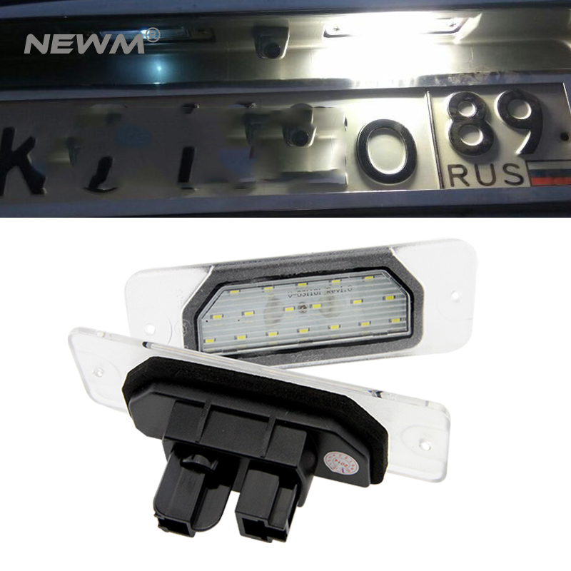 2Pcs 18SMD No Error LED Number License Plate Light Lamp OEM Direct Fit For Infiniti Fx35 Fx45 Q45 I30 I35 Q70 Nissan Fuga Cefiro direct fit for kia sportage 11 15 led number license plate light lamps 18 smd high quality canbus no error car lights lamp page 4