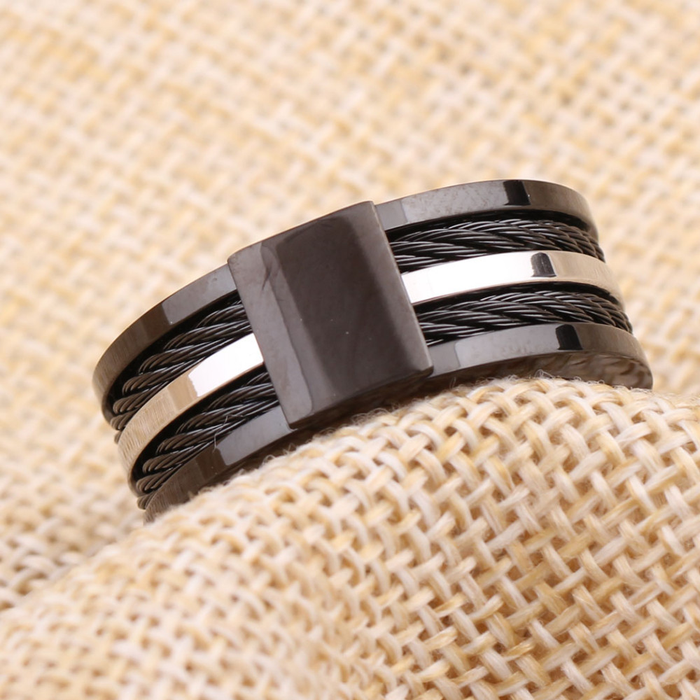Black Male Unique Ring Wedding Band Tungsten Carbide Ring 12.5mm Man Anniversary Jewelry Size 9# 10# 11# 12# 4