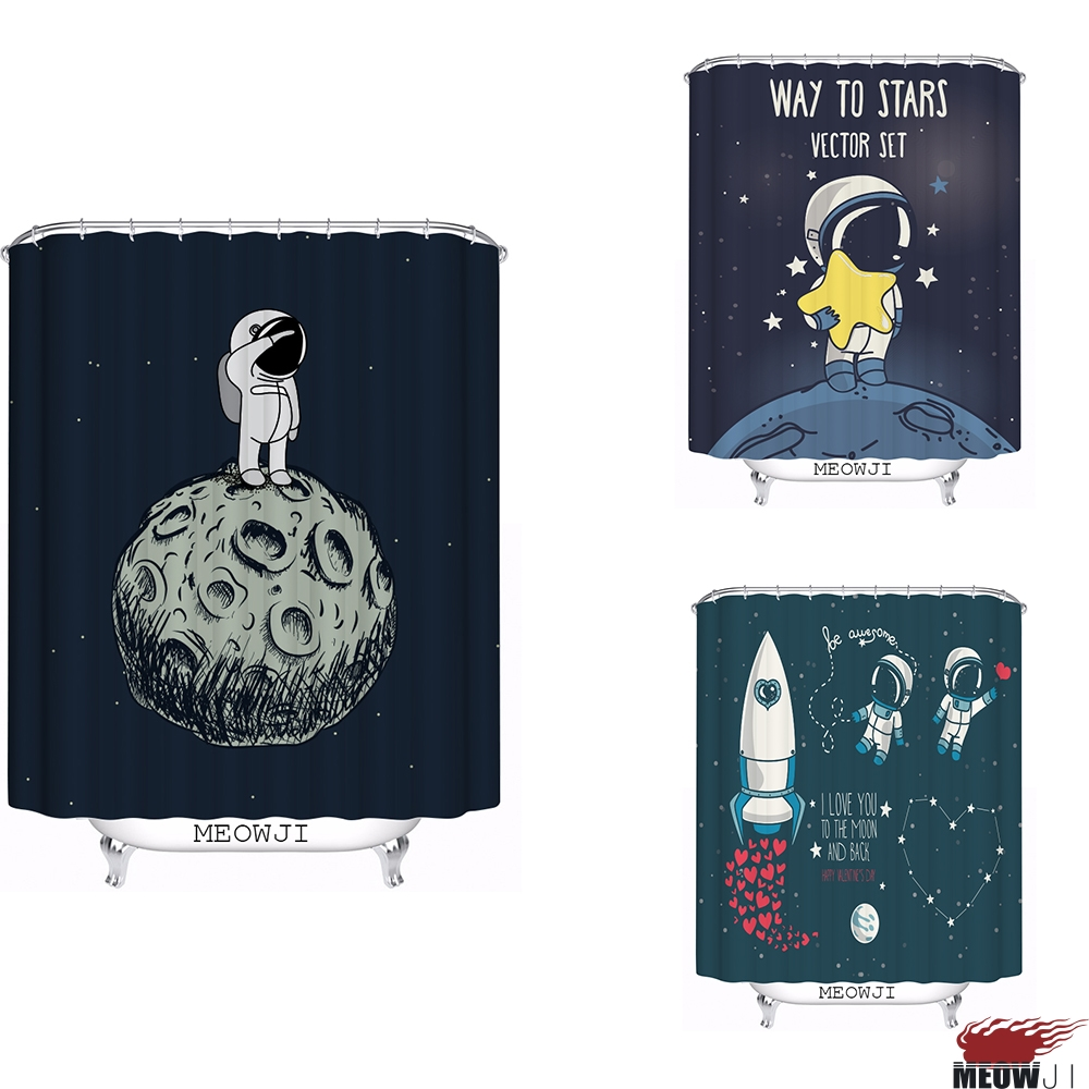 Space Rocket Adventure Planet custom Shower Curtain Bathroom decor various sizes Free Shipping