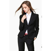 New High Quality Sexy Women's Business Suits Custom made Black OL Formal Suits Women Suits
