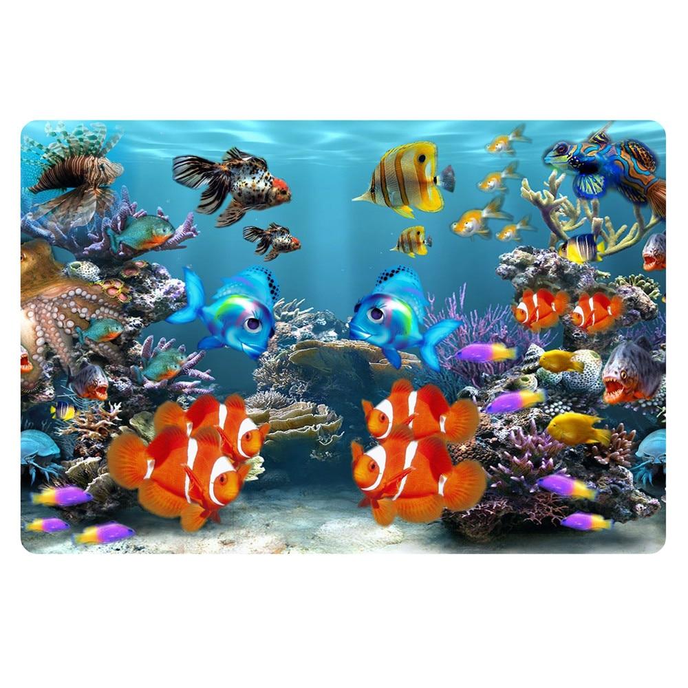 Hot 3d Tropical Fish Carpets For Housr Living Room Novelty