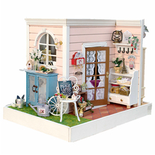Miniature Puppet House DIY Dollhouse with Furniture Wooden 3D Miniaturas Doll House font b Toy b