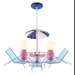 Piękne krzesło plażowe dzieci sypialnia żyrandol kreatywny nowa wyjątkowa osobowość chłopcy i dziewczęta rozrywka lampy i latarnie