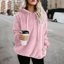 Womens Coats, Jackets, Bristles, Corduroy, Corduroy Pullovers  Full Casual Sweatshirt Women Pink Clothing Hoodie