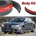 Bumper Spoilers Lip For Mitsubishi Lancer Evolution LanEvo Evo Car Tuning Body Chassis Side Protection / Anti-Collision Stickers