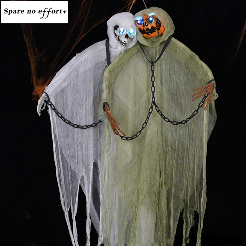 halloween party Ghost 200cm Halloween Hanging Ghost Haunted House Escape Horror Halloween Decorations