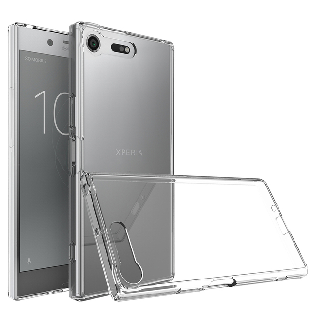 best website bf65c 6e05f US $5.25 7% OFF|For Sony Xperia XZ Premium Back Cover Clear Silicone Case  Soft TPU PC Armor Hybrid Back Cover for Sony XZ Premium Phone Case xzp-in  ...