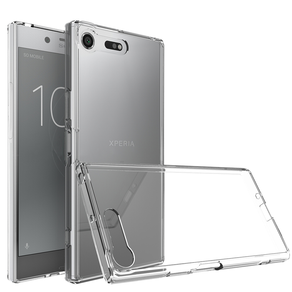For Sony Xperia XZ Premium Back Cover Clear Silicone Case Soft TPU PC Armor Hybrid Back Cover for Sony XZ Premium Phone Case xzp