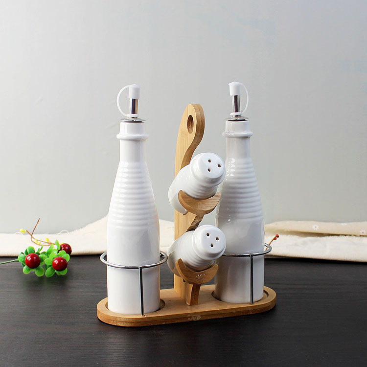 Creative ceramic seasoning bottle set decorative porcelain for Decorative dining table accessories