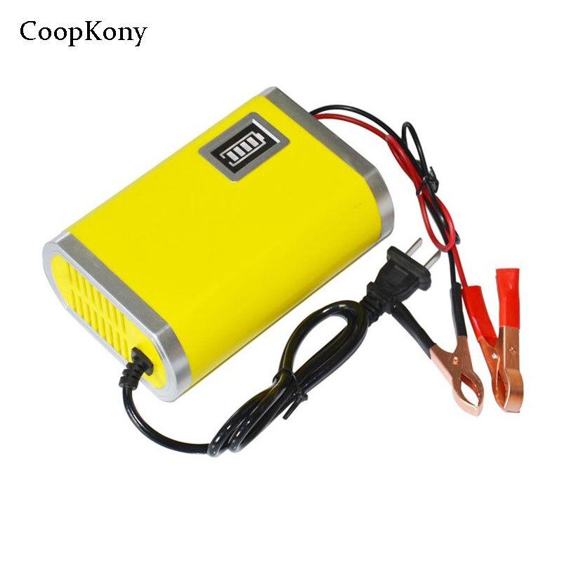 Eu US 12V Car Battery Charger Li Lead Acid Battery Charger 12V Motorcycle Charger 12V 6A Power