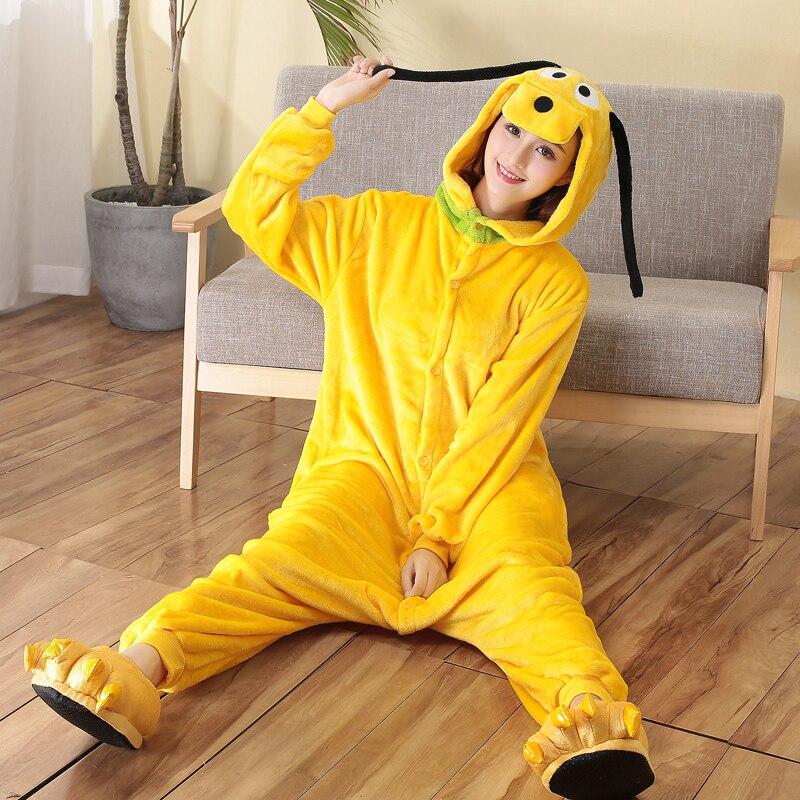 yellow dog pajamas for adult