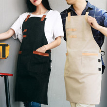 Comfortable Cotton Denim Apron Woman Man Cooking Panting Aprons Durable Restaurant Working Clothes Coffee Use Nail Salon Aprons