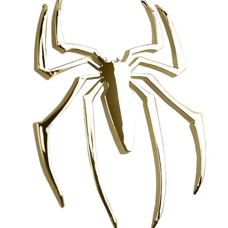 3D Car Sticker HOT Universal Metal Spider Emblem Chrome Motor Decal Ornament