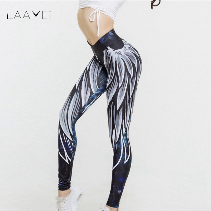 LAAMEI New Harajuku 3D Print Leggings For Women 2018 Push Up Sporting Fitness Legging Athleisure Bodybuilding Sexy Women's Pants