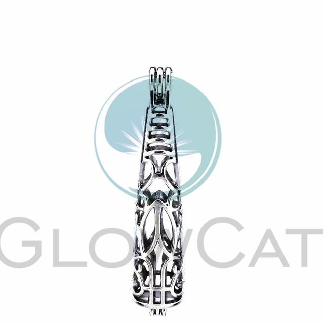 5X тотемная бутылка жемчужная клетка Ювелирная фурнитура, клетка медальон кулон эфирное масло диффузор медальон для Oyster жемчужное ожерелье