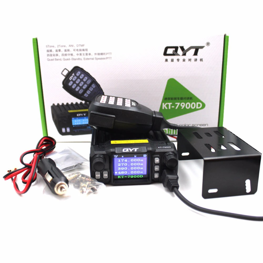 Image 5 - 2019 Latest Version Mini Mobile Radio QYT KT 7900D 25W Quad Band 144/220/350/440MHz KT7900D UV transceiver or with Power Supply-in Walkie Talkie from Cellphones & Telecommunications