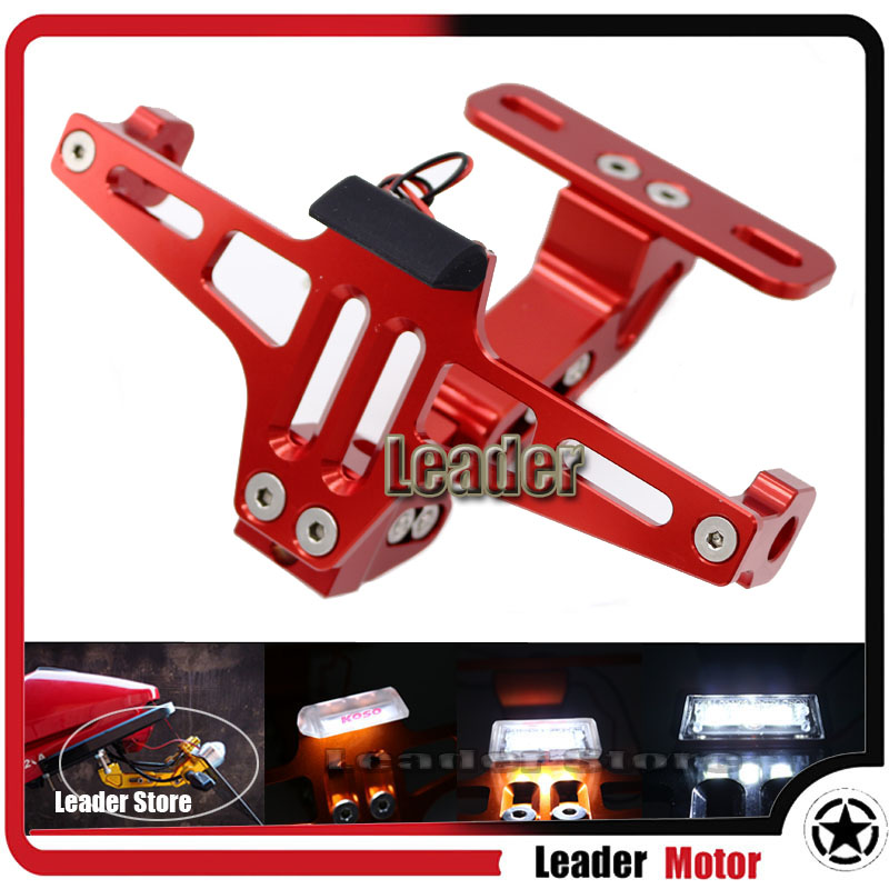 Universal For Honda CBR600RR CBR1000RR CB1000R CB600F Motorcycle Adjustable Angle License Number Plate Frame Holder Bracket