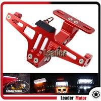 Universal For Honda CBR600RR CBR1000RR CB1000R CB600F Motorcycle Adjustable Angle License Number Plate Frame Holder Bracket